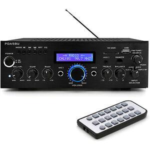 Pyle Home PDA5BU 200 Watt AM/FM AUX/USB Bluetooth Home Stereo Amplifier System