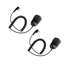 2X 2 Pin Mini PTT Speaker MIC For Kenwood QUANSHENG PUXING UV5R 888S Radio