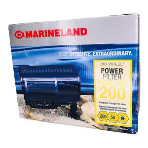 Marineland Bio-Wheel Power Filter Penguin 200 3-Stage Aquarium Filtration New