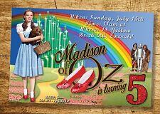 WIZARD OF OZ RAINBOW Invitation Birthday Party Invite DOROTHY TOTO Digital File