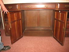 6 feet long SIDEBOARD, VERY ORNATE, natural dark wood .SOLID VERY OLD ANTIQUE ,