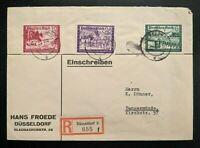 1941 Dusseldorf to Tangermünde Germany Hans Froede Registered Mail Cover