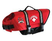 Paws Aboard RED NEOPRENE dog pet life vest jacket XXS,SMALL,MEDIUM,LARGE, XL