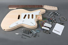 "DIY ""Build Your Own"" Unfinished SOLID JazzMaster Electric Guitar Kit"