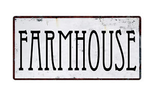 "1188HS Farmhouse 5""x10"" Aluminum Hanging Novelty Sign"