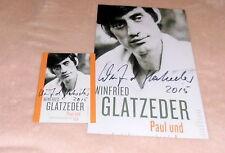 Winfried Glatzeder *Dschungelcamp*, original signiertes Foto 20x27 cm * sign. AK