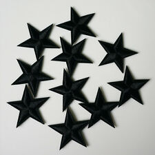 10Pcs Embroidery Black Star Sew Iron On Patch Badge Bag Hat Jeans Applique Craft