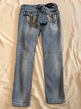MISS ME DISTRESSED DESTROYED ANKLE SKINNY JEANS 26 x 27