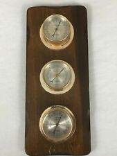 Vintage Springfield Barometer Weather Station Thermometer Humidity Wall Mount