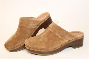 Vionic Kacie Womens 8 39 Brown Suede Mules Slip Ons Clogs Heels Comfort Shoes