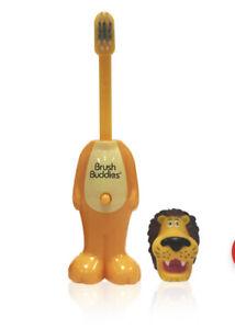 BrushBuddies Poppin' Fun Toothbrush Rickie Lion Cap Pop Up Child Soft Sealed