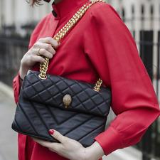 Kurt Geiger Black Leather Kensington shoulder handbag with gold eagle £160 New