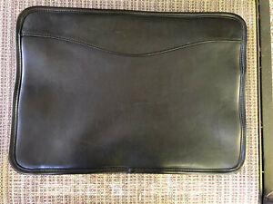 Genuine Leather Slim Document Holder Case Portfolio Folder