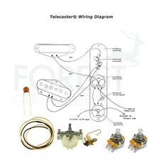 Wiring kit for Fender Telecaster ® guitars Switchcraft, CTS pots, CRL 3 way