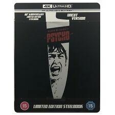 Psycho 1960 4k BLURAY 60th Anniversary Steelbook Limited Edition Hitchcock