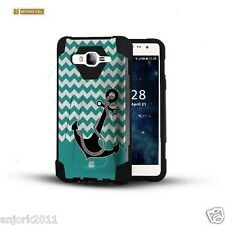 Anchor Chevron Shockproof Case w/Stand Cover for Samsung Galaxy Express Prime J3