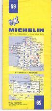 CARTE TOURISTIQUE MICHELIN N° 59 . ST BRIEUX/RENNES