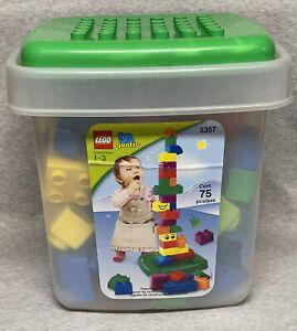 Lego QUATRO 5357 Bricks Set w/ Bin & Top Bonus 81 Pieces Age 1-3 Toddler