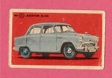 Austin A-50 Vintage 1950s Car Collector Card from Sweden