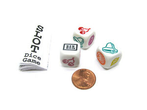 Slot Dice Game with 3 Dice and Game Instructions