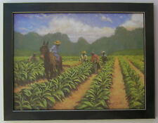 Tobacco Art  Farmers Field prime Framed Country Picture