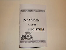 antique  national brass cash register book that shows a lot of  models ncr