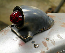 OLD SCHOOL AGED SOLID BRASS SPARTO REPLICA FIL TAIL LIGHT HARLEY BOBBER CHOPPER