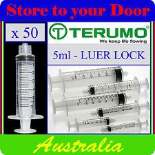 50 x 5ml Terumo Syringe Luer Lock - Hypodermic Needle / Medical / Diabetic