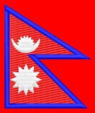 Flag Nepal Népal Drapeau ecusson thermocollant brodé patche iron-on patch