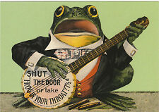 ROBERT  OPIE  ADVERTISING  POSTCARD  -  FROG  IN  YOUR  THROAT