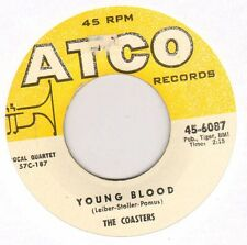 """THE COASTERS """"YOUNG BLOOD / SEARCHIN'"""" DOO WOP GROUP 1957 SP ATCO 6087"""