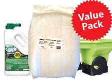 LAWN VALUE PACK 10Kg RyeGrass sows 350sqm Seed Spreader & Greenkeeper Fertilizer