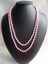 Pink Blue 70s 80s 90s Irridescent Plastic Bead Necklace Pastel  Fancy Dress