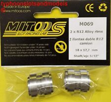 M069 Mitoos FLY Camion Posteriore Cerchi in lega R12 x2 - 18 x 17.7 mm-NUOVO