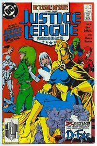 JUSTICE LEAGUE AMERICA #31 Oct 1989 NM+ 9.6 W ADAM HUGHES COVER/ART (1st DC) B/O