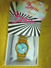 Boum watch women's Leather beaded band NEW IN BOX!