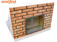 brick outdoor wood fired Pizza oven 100cm x 100cm Build-in-wall model