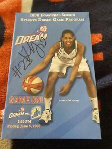 Inaugural Season WNBA 2008 ATLANTA DREAM, TAMERA YOUNG, Rare autographed PROGRAM