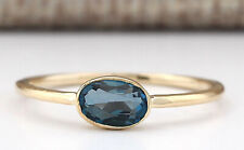 0.60 Carat Natural Topaz 14K Yellow Gold Solitaire Promise Ring