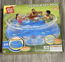 Play Day 8ft 3D Transparent Quick Set® Pool, Includes 2 Pairs of 3D Goggles!