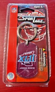 Lot of 3 New 2008 Super Bowl XLII NFL Dog Tags Key Chain New York Giants