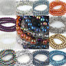 Wholesale Round Czech Crystal Glass Spacer Beads Jewelry Finding DIY 6/8/10/12MM