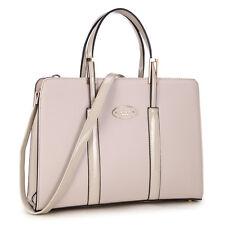 New Dasein Women Leather Briefcase Tote Work Satchel Purse Shoulder Bag Handbag