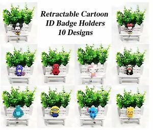 Cartoon, Disney, Marvel Retractable Name Badge ID Pass Holder - Fast & Free Post