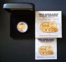 2009 $1 1OZ GOLD PLATED SILVER PROOF COIN 1852 Adelaide ASSAY OFFICE GOLD INGOT