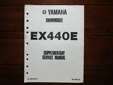 New ListingYamaha Ex440E Snowmobile Supplementary Service Manual