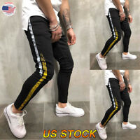 Men Long Casual Sport Pants Slim Fit Trousers Hiking Joggers Gym Sweatpants US