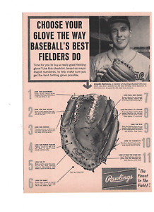 Brooks Robinson Baltimore Orioles Rawlings 1960s Glove Ad Cut From Magazine RH2