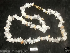 Collier baroque chips QUARTZ TOURMALINE 45 cm mineraux lithotherapie reiki