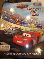 WDW DISNEY PIXAR THE WORLD OF CARS LIGHTNING'S BIG RACE STICKER ACTIVITY BOOK